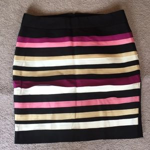White House Black Market Striped Layered Skirt